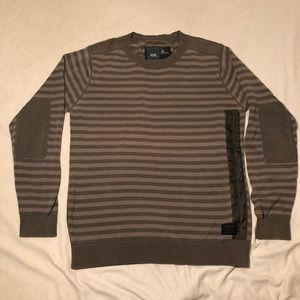 GStar Sweater Brown/Tan & Olive Green. Size L